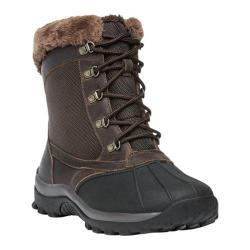 Women's Propet Blizzard Mid Lace II Boot Brown Leather/Nylon