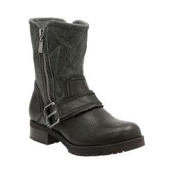 Women's Clarks Faralyn Rise Motorcycle Boot Black Cow Suede/Nubuck/Goat Full Grain Leather
