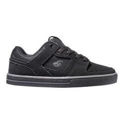 Boys' DVS Everett Lo Skate Shoe Grey/Black Nubuck