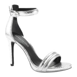 Women's Kenneth Cole New York Brooke Two Piece Sandal Silver Polyurethane