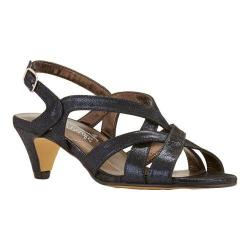 Women's Rose Petals by Walking Cradles Lassie Strappy Sandal Navy Shimmer Suede