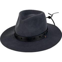 Women's San Diego Hat Company Wool Felt Fedora WFH8029 Charcoal