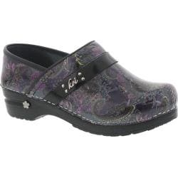 Women's Sanita Clogs Koi Pais Closed Back Clog Multi Printed Patent