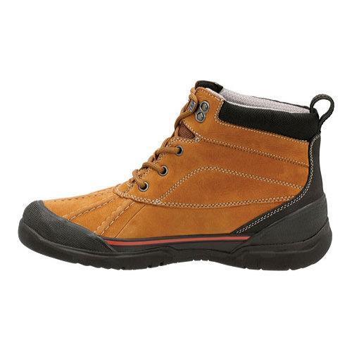 ... Men's Clarks Allyn Top Waterproof Ankle Boot Tan Cow Nubuck