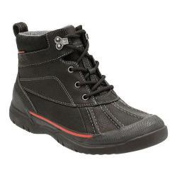 Men's Clarks Allyn Top Waterproof Ankle Boot Black Tumbled Cow Full Grain Leather