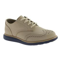 Boys' Cole Haan Grand Pin Perf Oxford Khaki Microsuede