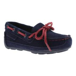 Boys' Cole Haan Grant Driver Navy Suede/Red