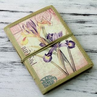 Handmade Paper 'Iris Voyage' 48-page Journal (India)