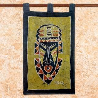 Handcrafted Cotton 'Take Initiative' Batik Wall Hanging (Ghana)