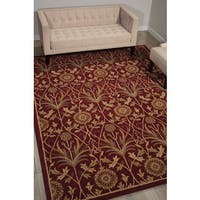 Nourison Grand Mahal Red Area Rug (8' x 10') - 8' x 10'