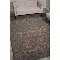 Nourison Grand Mahal Light Blue Area Rug (8' x 10') - 8' x 10'