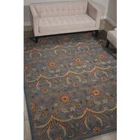 Nourison Grand Mahal Light Blue Area Rug (5' x 7') - 5' x 7'