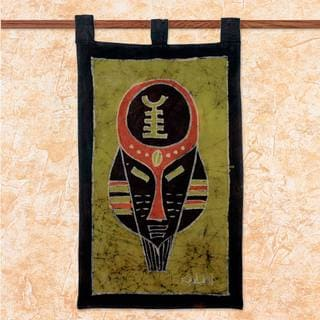 Handcrafted Cotton Batik 'Battle Cry' Wall Hanging (Ghana)