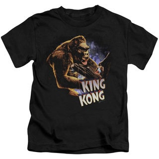 King Kong/Kong and Ann Short Sleeve Juvenile Graphic T-Shirt in Black