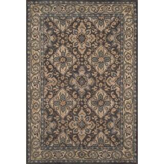 "Hand- Tufted Lucas Grey Wool Rug (7'6"" x 9'6"")"