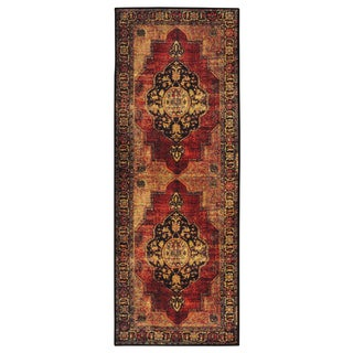 Ottomanson Authentic Collection Nonslip Traditional Overdye Inspired Vintage Design Area Rug (2'3 x 6'0)