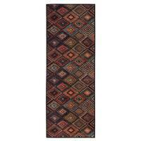 Ottomanson Authentic Collection Multicolored Polypropylene Non-slip Contemporary Abstract Diamond Design Area Rug (1'8 x 4'11)