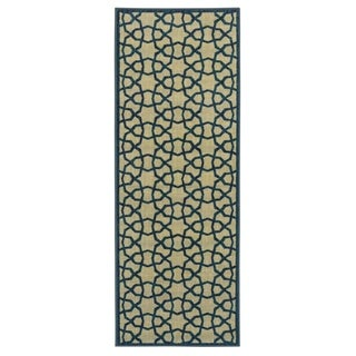 Ottomanson Authentic Collection Contemporary Geometric Trellis Non-Slip Area Rug (2'3 X 6')