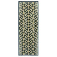 Ottomanson Authentic Collection Contemporary Geometric Trellis Non-Slip Area Rug (2'3 X 6') - 2'3 x 6'
