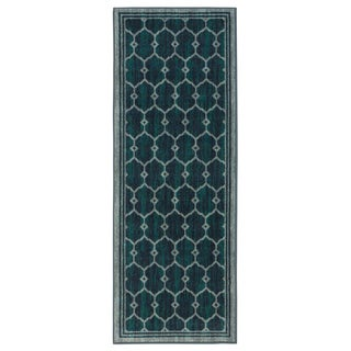 Ottomanson Authentic Collection Trellis Design Contemporary Non-slip Area Rug (2'3 x 6'0)