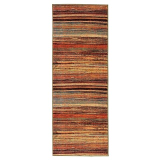 Ottomanson Authentic Collection Multicolor Non-Slip Contemporary Abstract Stripes Design Area Rug (1'8 x 4'11)