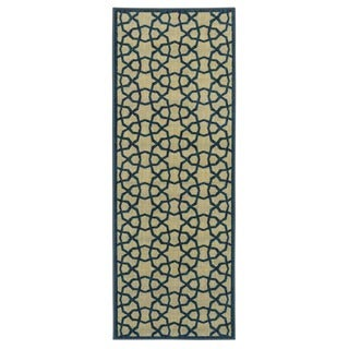 Ottomanson Authentic Collection Contemporary Geometric Trellis-design Polypropylene Nonslip Area Rug (20-inch x 59-inch)