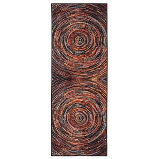 Ottomanson Rainbow Collection Polypropylene Abstract Non-slip Area Rug (1'8 x 4'11)