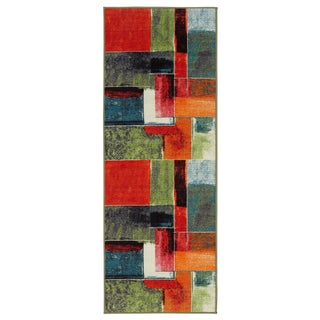 Ottomanson Rainbow Collection Multicolor Nonslip Modern Abstract Geometric Area Rug (1'8 x 4'11)