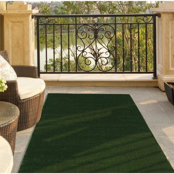 Shop Ottomanson Evergreen Collection Indoor Outdoor Green