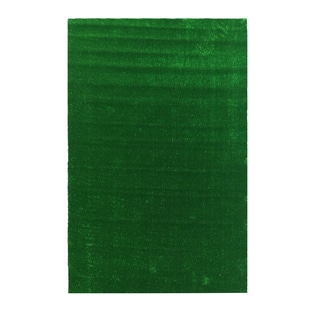 Ottomanson Evergreen Collection Green Artificial Grass Turf Indoor/Outdoor Solid Design Runner Rug (6'0 x 7'3)