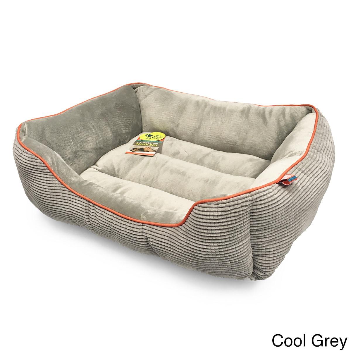 Animal Planet Grid Pattern Cuddler Pet Bed (Cool Grey - M...