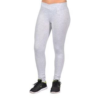 Women's Green Curved Front Elastic-waist Legging