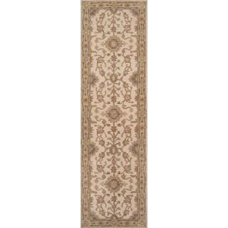 """Hand- Tufted Greer Beige Wool Rug (2'3"""" x 8')"""