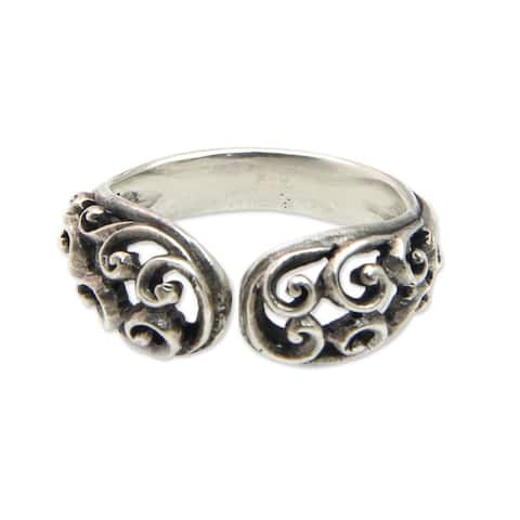 Handmade Sterling Silver 'Jasmine Vine' Ring (Indonesia)