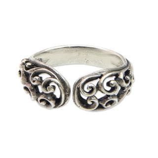 Handcrafted Sterling Silver 'Jasmine Vine' Ring (Indonesia)