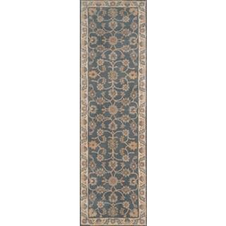 "Hand- Tufted Rowen Blue Wool Rug (2'3"" x 8')"