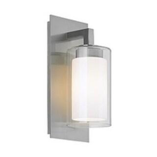 Feiss 1 - Light Salinger Outdoor Lantern, Brushed Steel