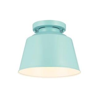 Feiss 1 - Light Outdoor Flushmount, Hi Gloss Blue