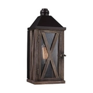 Feiss Lumiere' 1 Light Dark Weathered Oak / Oil Rubbed Bronze Wall Sconce