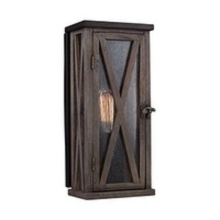 Feiss 1 - Light Outdoor Wall Sconce, Dark Weathered Oak / Oil Rubbed Bronze