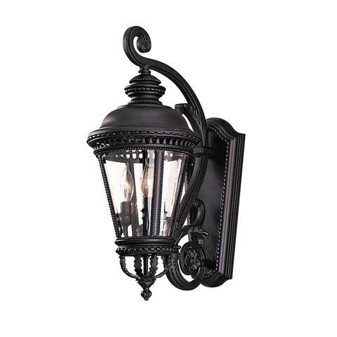 Feiss 3 - Light Wall Lantern, Black