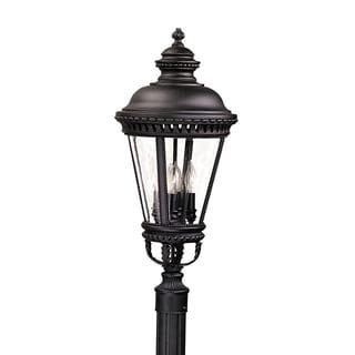 Feiss Castle 4 Light Black Post