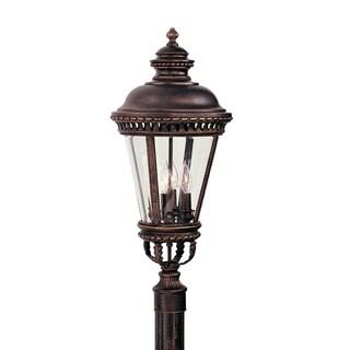 Feiss 4 - Light Post, Grecian Bronze