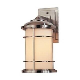 Feiss Lighthouse 1 Light Brushed Steel Wall Lantern