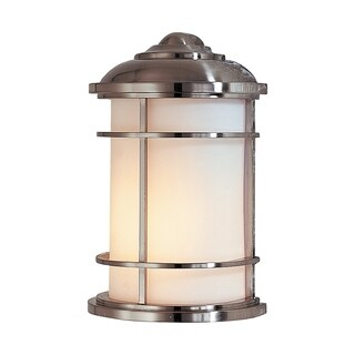 Feiss 1 - Light Wall Lantern, Brushed Steel