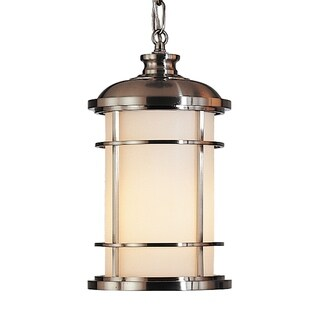 Feiss 1 - Light Pendant, Brushed Steel
