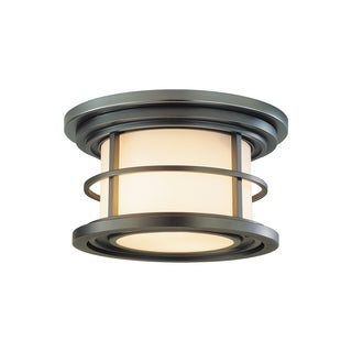 Feiss 2 - Light Ceiling Fixture, Burnished Bronze
