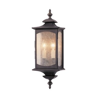 Feiss Market Square 2 Light Oil Rubbed Bronze Wall Lantern