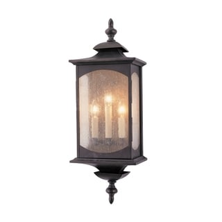 Feiss Market Square 3 Light Oil Rubbed Bronze Wall Lantern