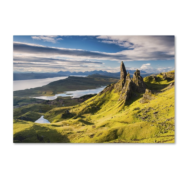 Michael Blanchette Photography 'Light on the Storr' Canvas Art